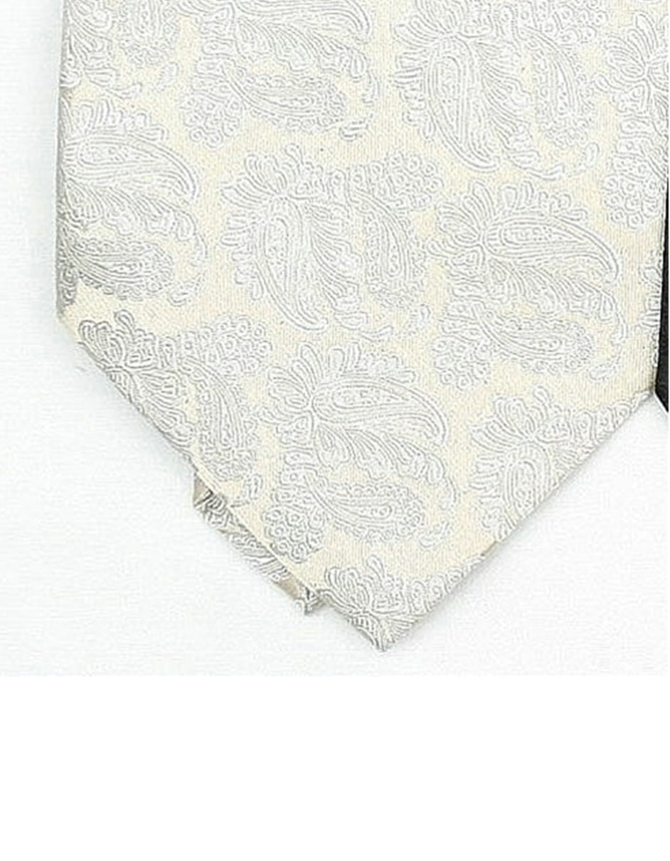 Cream Paisley Neck Tie