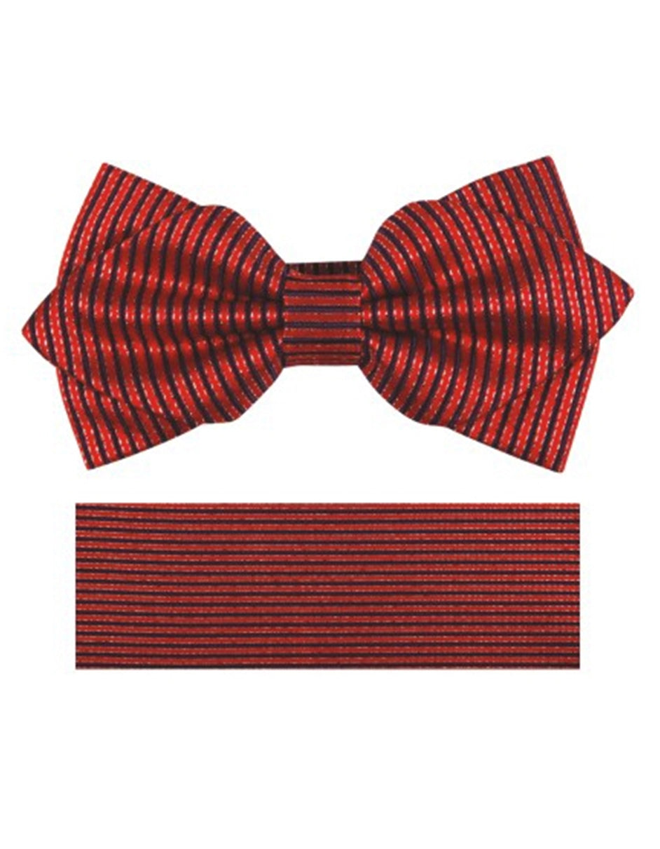 Red Stripe Bow Tie Set