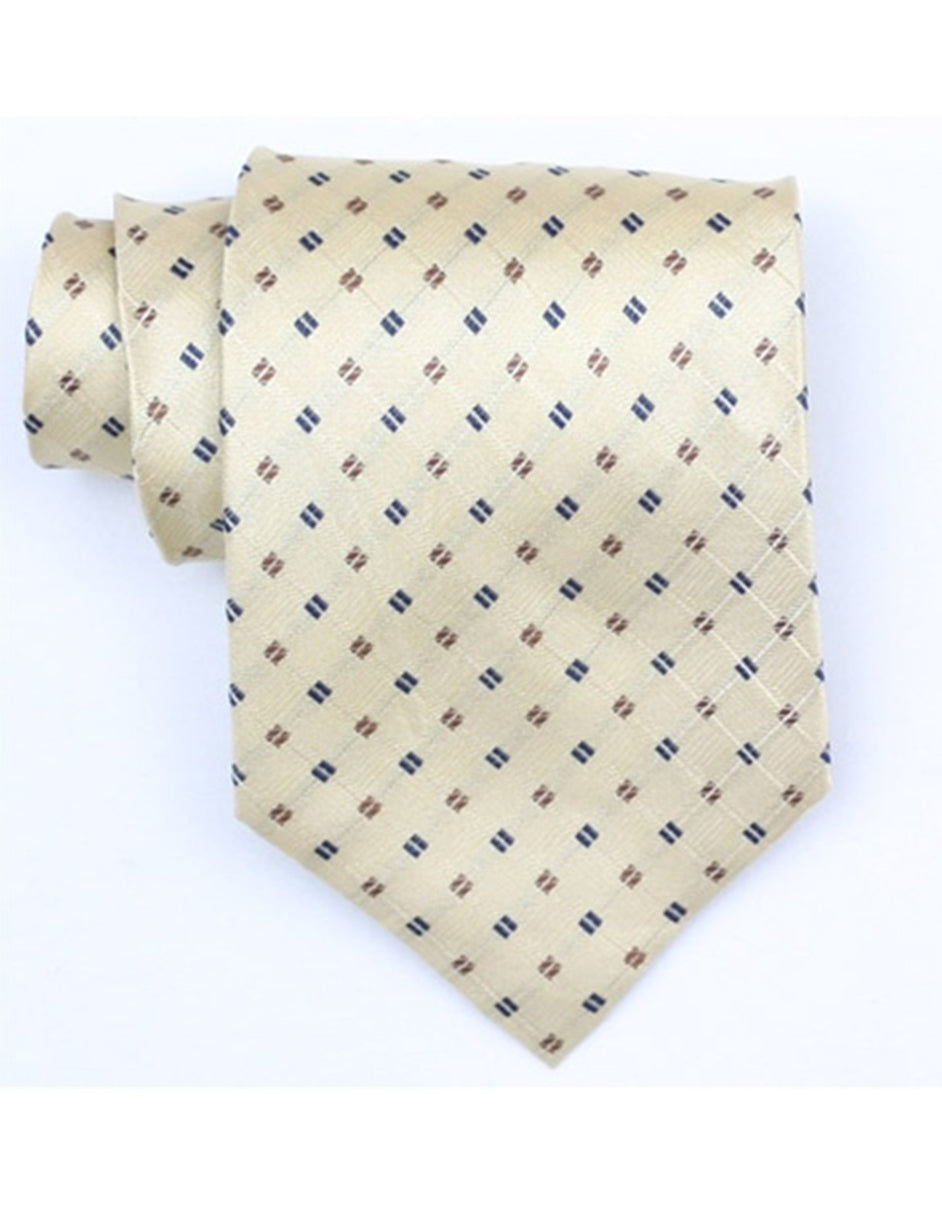 Tan Square Neck Tie