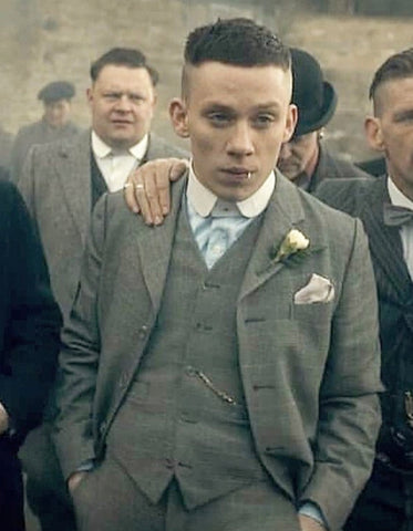 Mens Peaky Blinders John Shelby Vested Suit