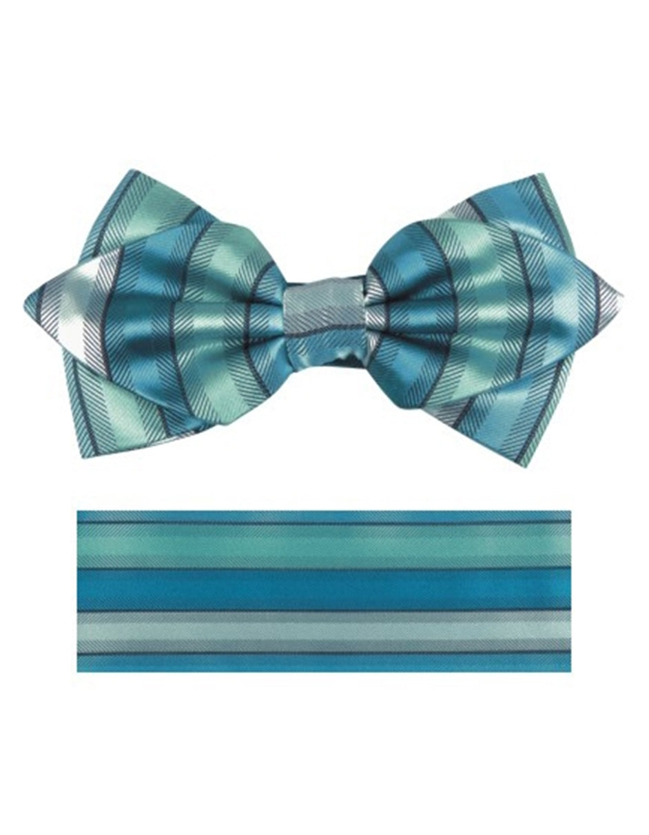 Aqua Green Bow Tie Set