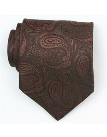 Brown Paisley Neck Tie