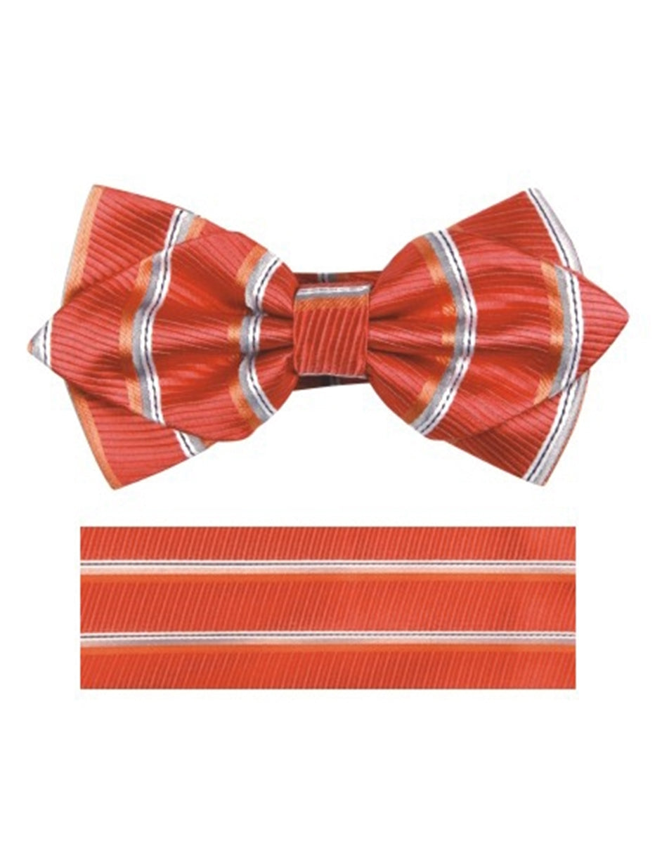 Orange & White Bow Tie Set