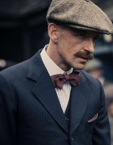 Mens Peaky Blinders Arthur Shelby Vested Pinstripe Suit