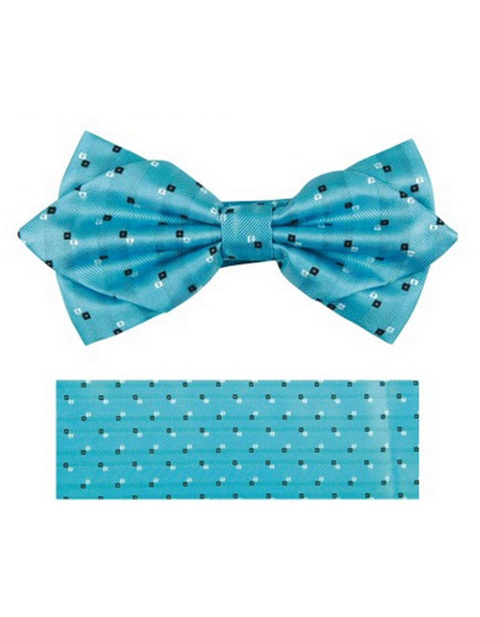 Aqua Dot Bow tie Set
