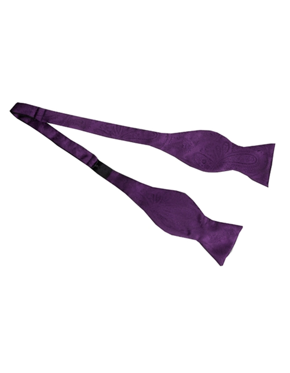 Purple Self-Tie Bow Tie Set