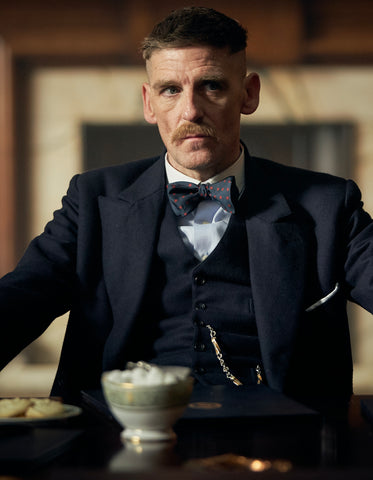 Mens Peaky Blinders Arthur Shelby Vested Black Suit