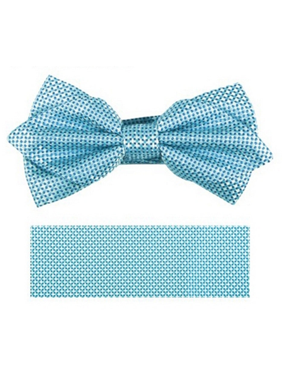 Turquoise Woven Bow Tie Set