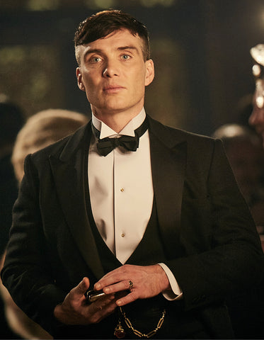 Mens Peaky Blinders Thomas Shelby Black Vested Tuxedo