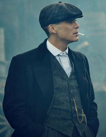 Mens Peaky Blinders Thomas Shelby Suit Overcoat & Hat