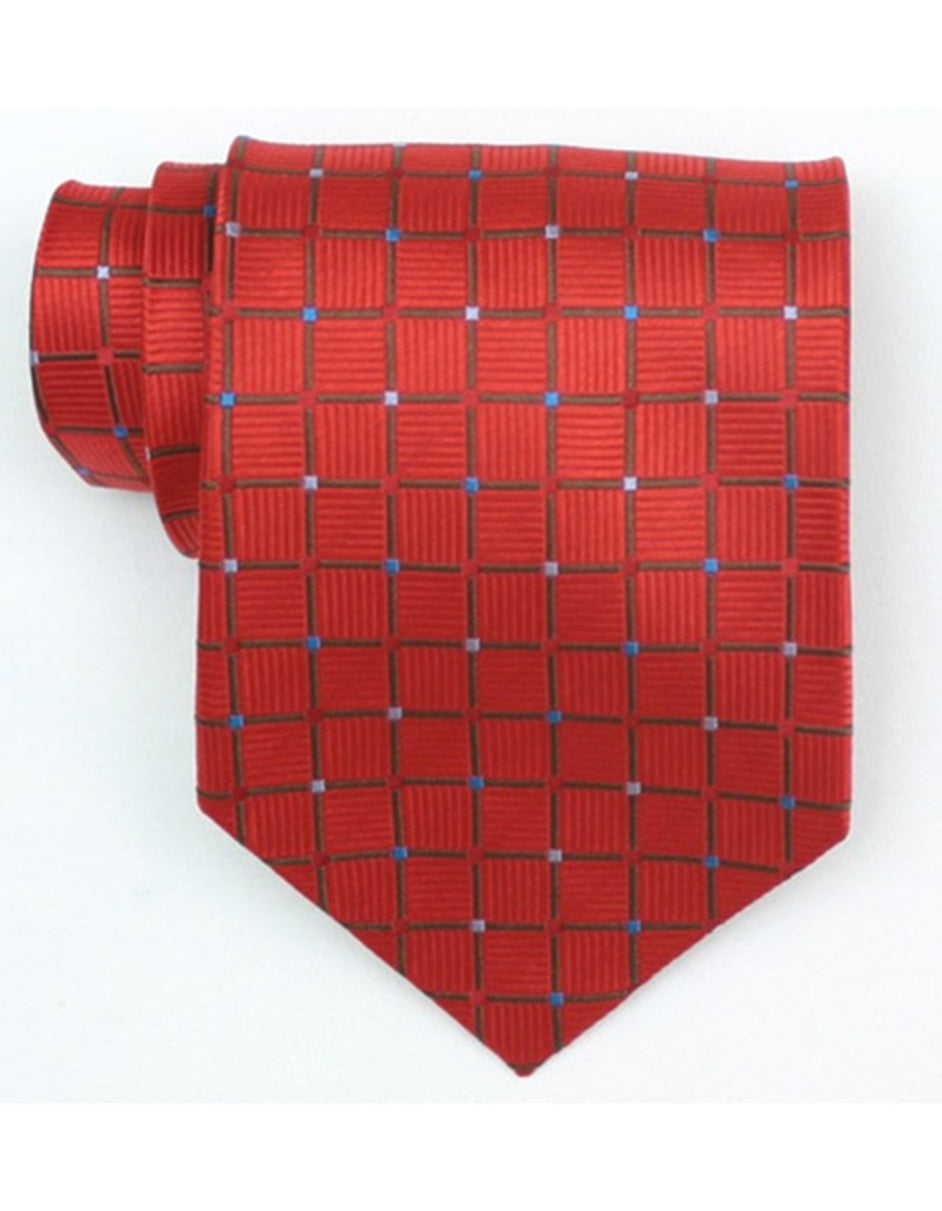 Red Square Neck Tie