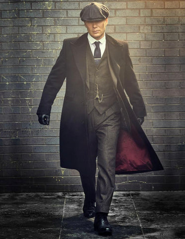 Mens Peaky Blinders Thomas Shelby Suit & Overcoat