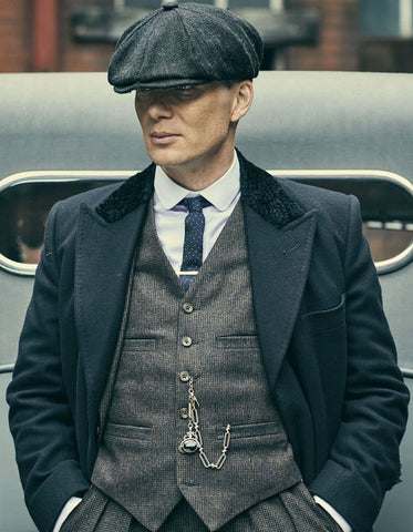 Mens Peaky Blinders Thomas Shelby Grey Outfit