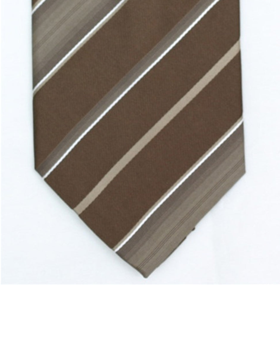 Brown Stripe Neck Tie