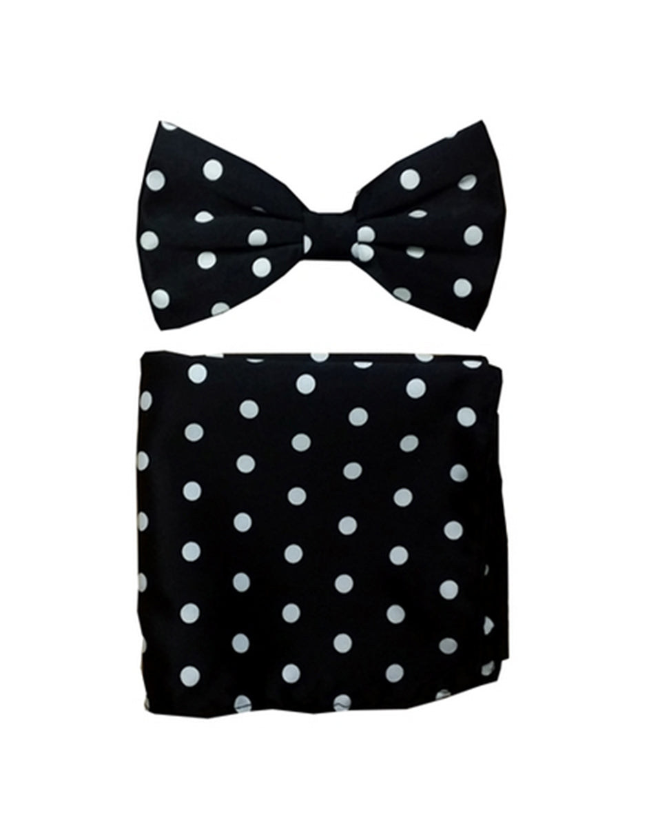 Black & White Polka Bow Tie Set