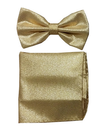 Shiny Gold Bow Tie Set