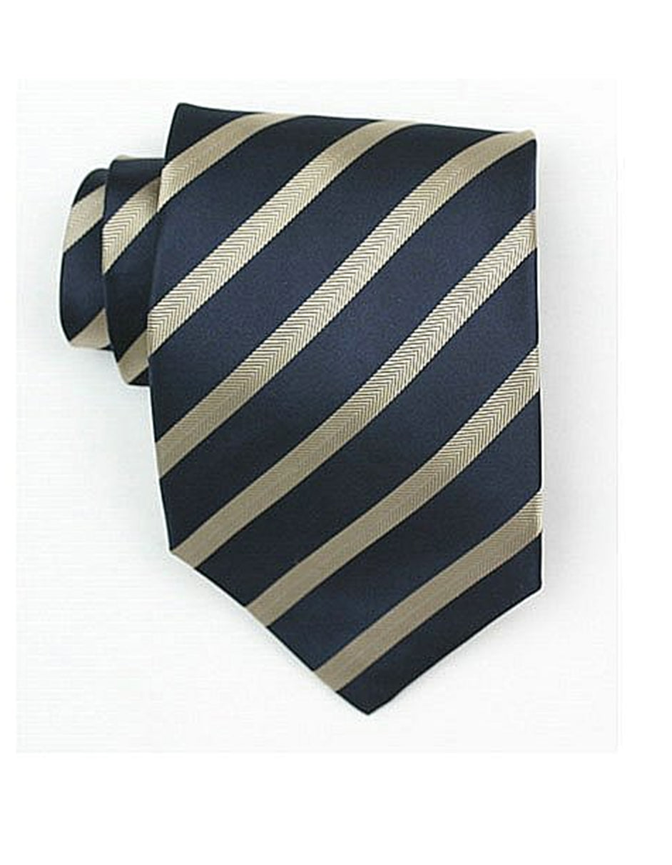 Navy & Gold Neck Tie