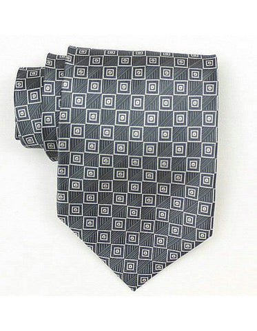 Grey Square Neck Tie