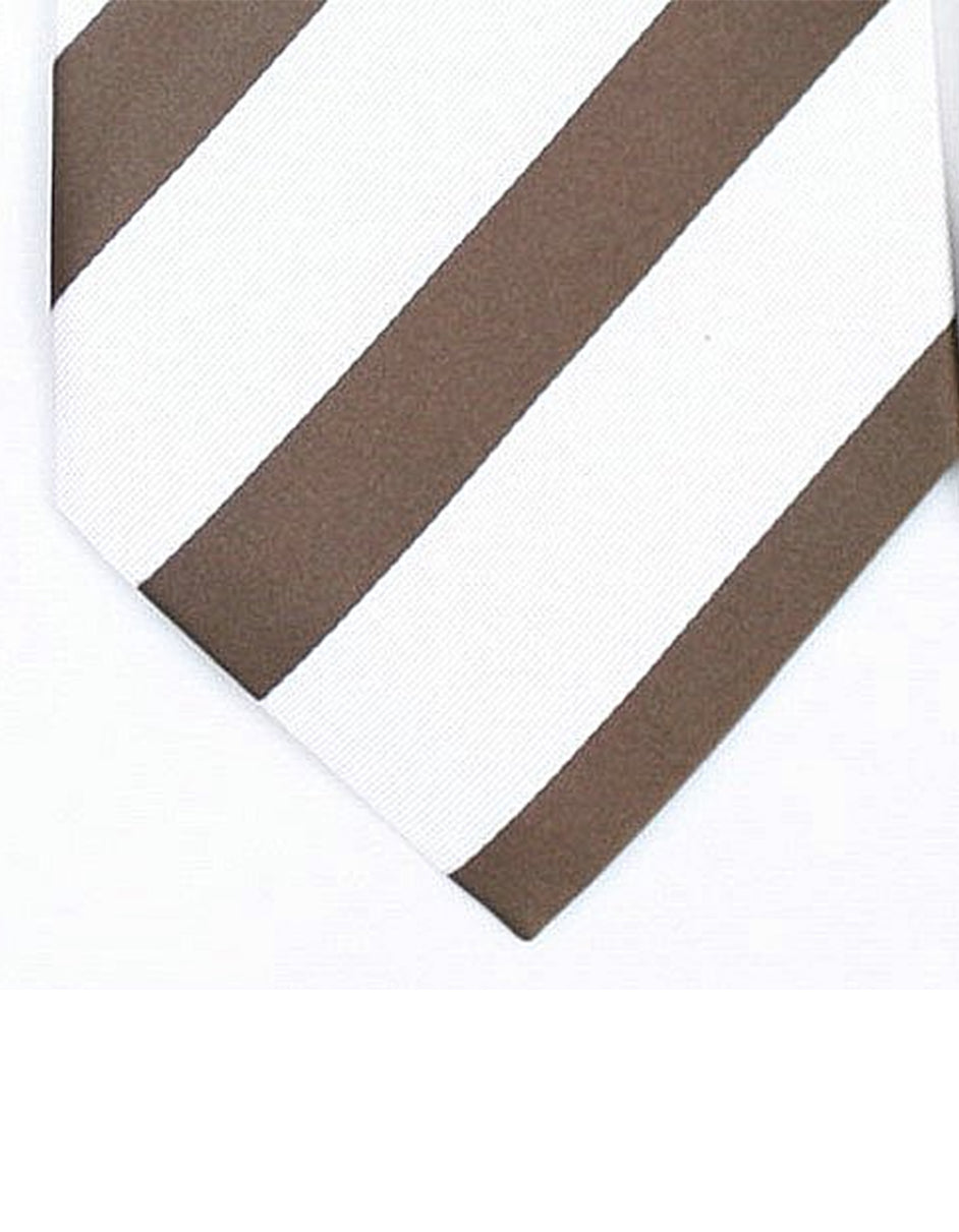 White & Brown Neck Tie