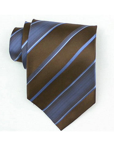 Brown & Blue Neck Tie
