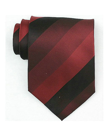 Burgundy Stripe Neck Tie