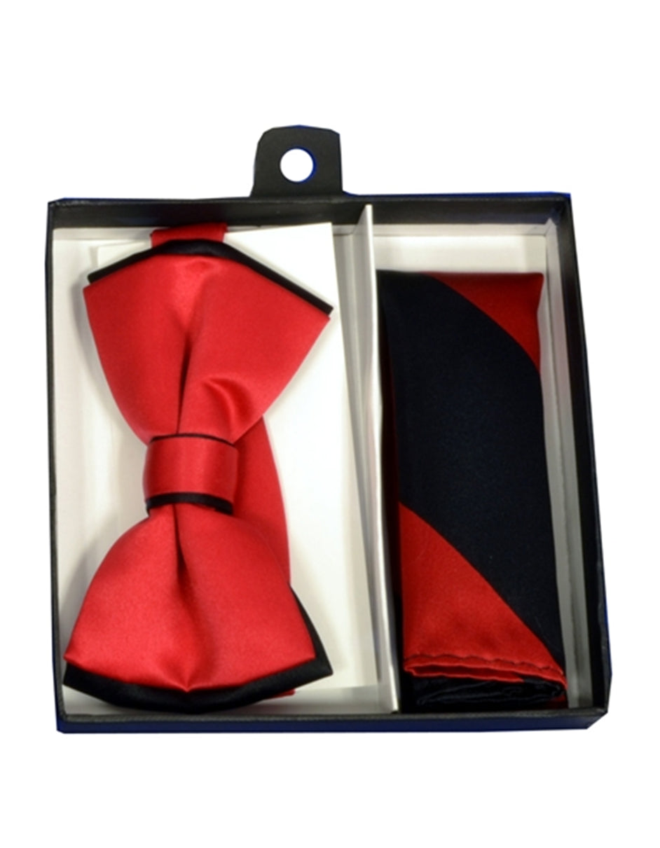 Red & Black Bow Tie Set
