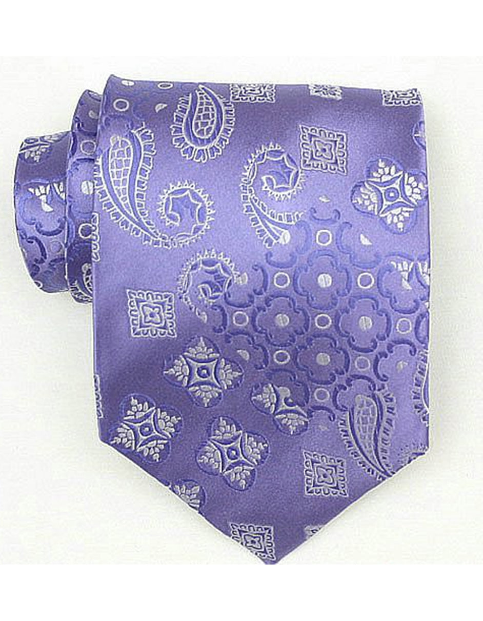 Purple Paisley Neck Tie