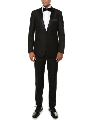 Mens Debonaire Tailored Black Prom Tuxedo