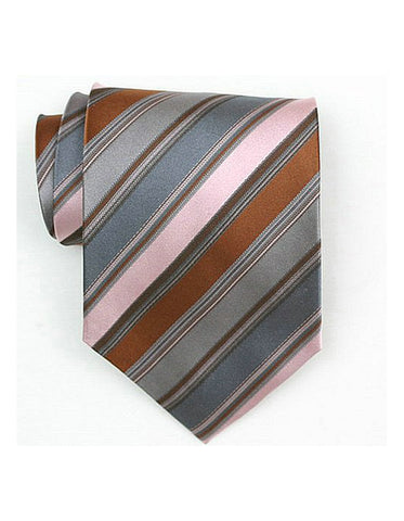 Brown & Pink Neck Tie
