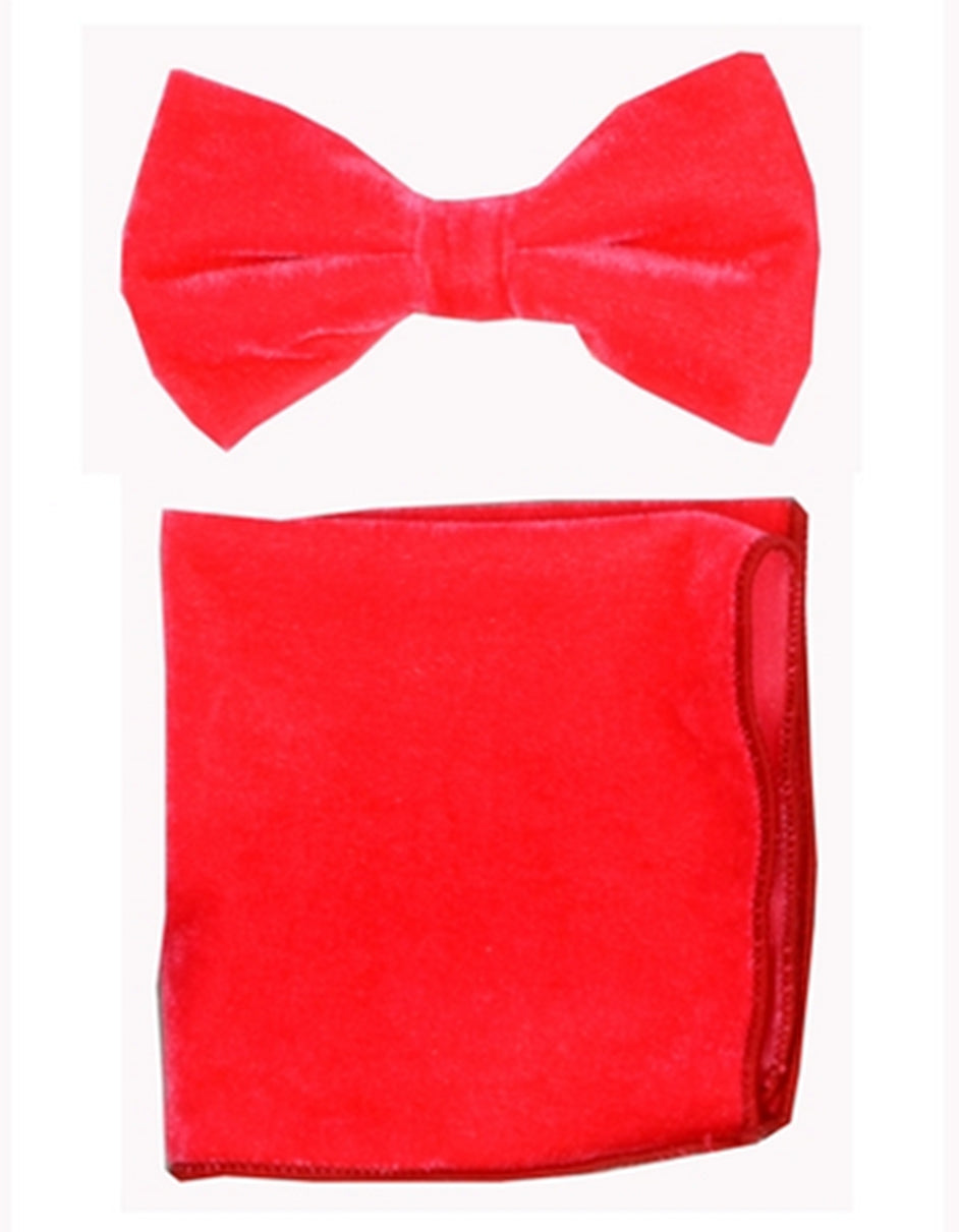 Melon Velvet Bow Tie Set