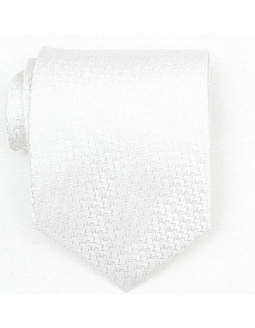 White Textured Neck Tie