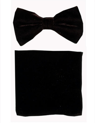 Black Velvet Bow Tie Set