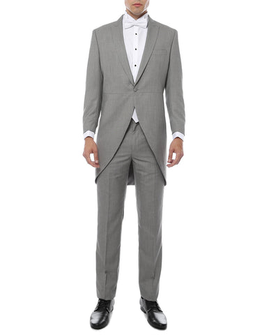 Mens Light Grey Morning Coat Tuxedo Tail