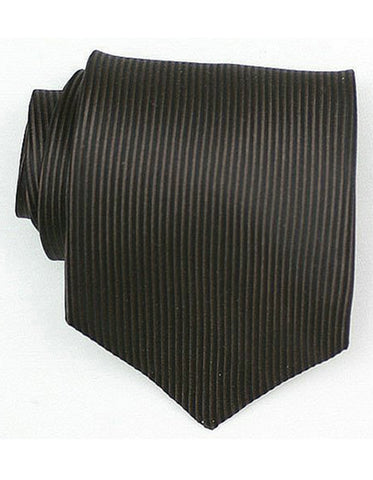 Black Vertical Stripe Neck Tie