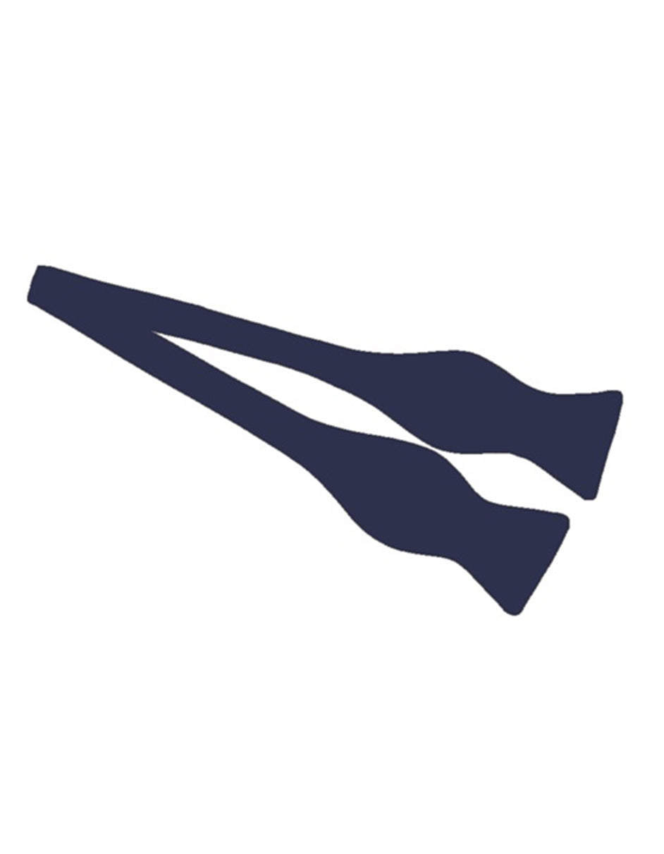 Navy Self-Tie Bow Tie