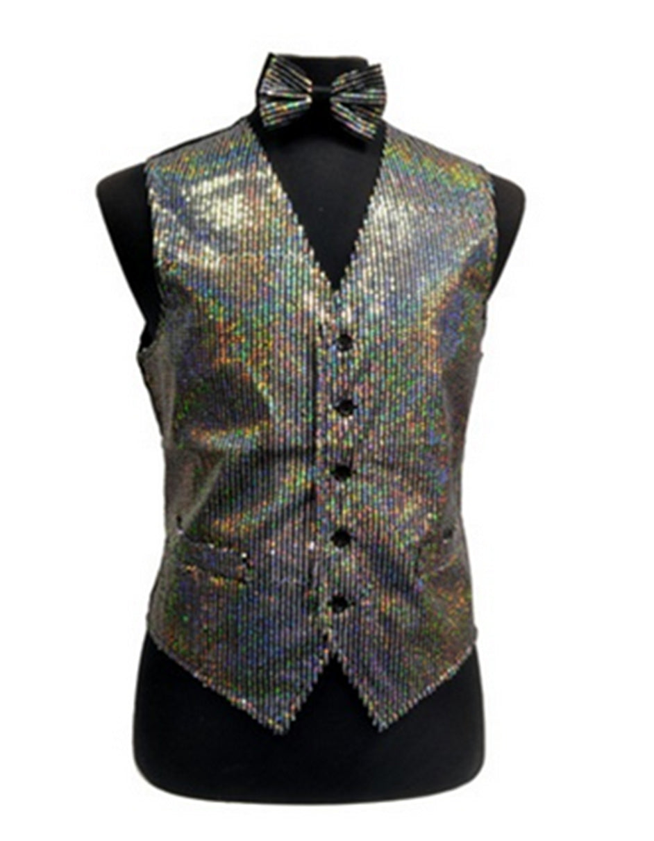 Mult-Color Sequin Vest Set