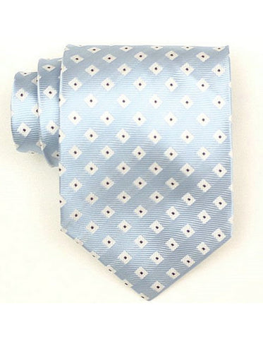 Light Blue Diamond Neck Tie