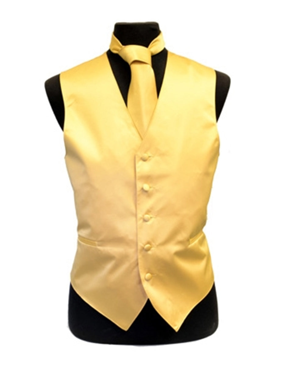 Solid Gold Vest Set