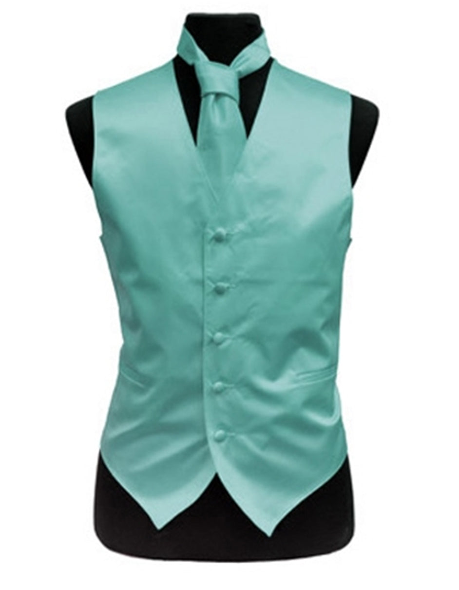 Solid Teal Vest Set