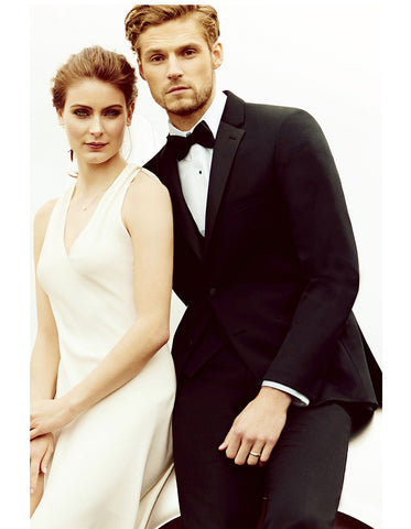 Mens Classic Black  Designer Wedding Tuxedo