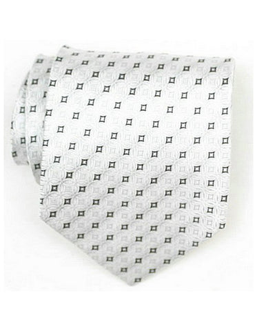 White Diamond Neck Tie