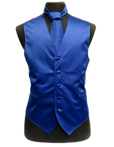 Solid Royal Blue Vest Set
