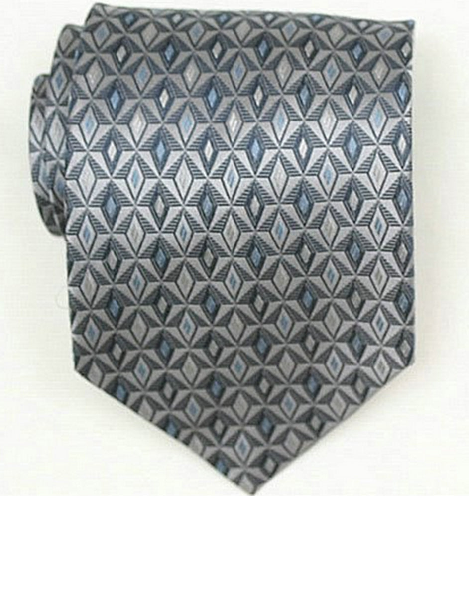 Grey Pattern Neck Tie