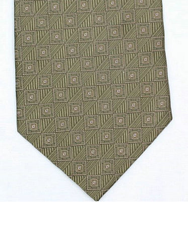 Green Square Neck Tie