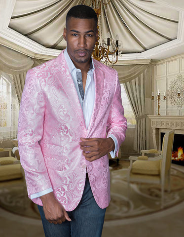 Light Pink Paisley Blazer