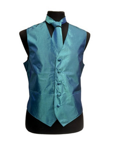 Teal Blue Vest Set