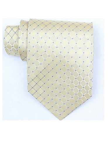 Yellow Blue Neck Tie