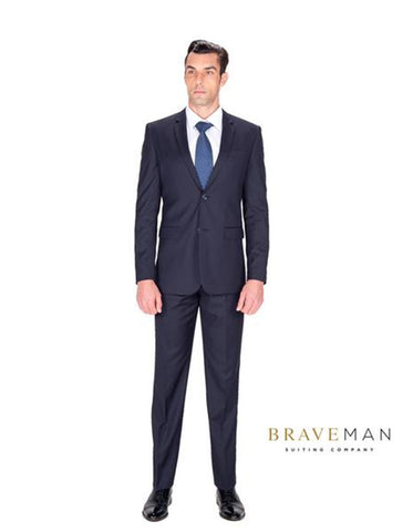 Slim Two Button Navy Suit