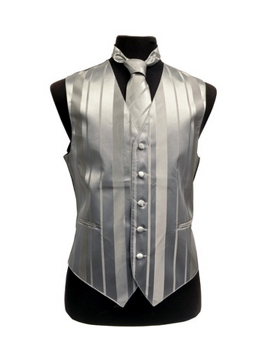 Silver Stripe Vest Set