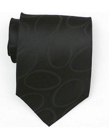 Black Oval Neck Tie